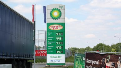 Cena benzyny BP