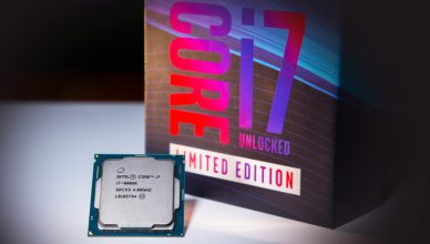Opakowanie nowego Intel 8086k processor
