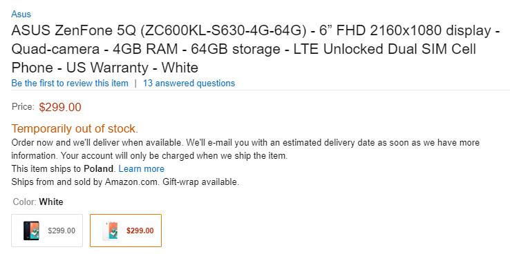 ZenFone 5Q 5 Lite