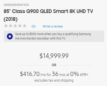 Samsung QLED900 cena