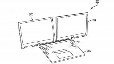 notebook z dwoma ekranami