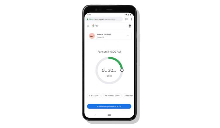 płacenia za parking w mapach Google