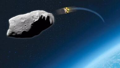 satelita uderza w asteroidę